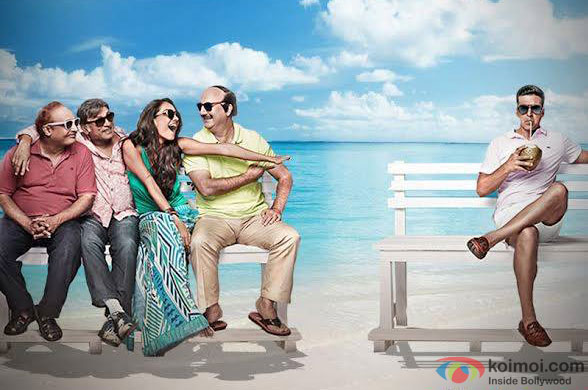 Piyush Mishra, Annu Kapoor, Lisa Haydon, Anupam Kher and Akshay Kumar in a still from movie 'The Shaukeens'