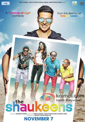 Akshay Kumar, Annu Kapoor, Lisa Haydon, Anupam Kher and Piyush Mishra in a 'The Shaukeens' movie poster