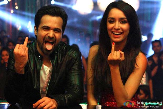 Emraan Hashmi and Shraddha Kapoor in a still from movie 'Ungli'