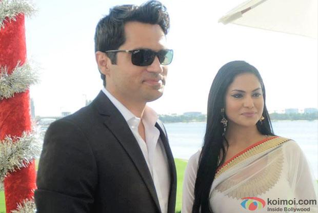 Assad Bashir Khan and Veena Malik