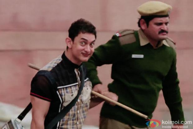 Aamir Khan in a still from movie 'PK'