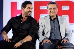 John Abraham and Paresh Rawal during the the announcement of 'Hera Pheri 3'