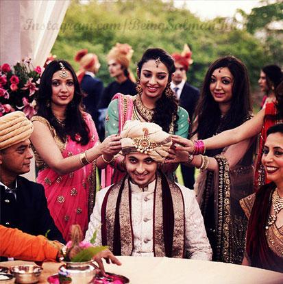 Ayush Sharma during his wedding with Arpita Khan