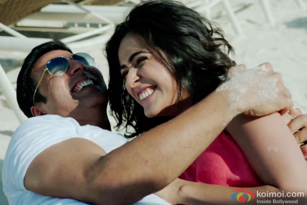 Akshay Kumar and Madhurima Tuli in a still from movie 'Baby'