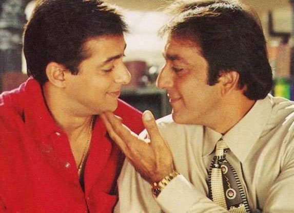 Salman Khan and Sanjay Dutt in a still from movie 'Chal Mere Bhai'