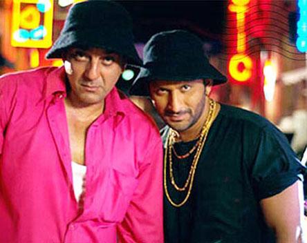 Sanjay Dutt and Arsad Warsi in a still from movie 'Munna Bhai M.B.B.S.'