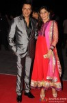 Madhur Bhandarkar and Renu Namboodiri during the Kush Sinha's wedding reception