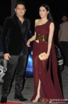 Bhushan Kumar and Divya Kumar Khosla during the Kush Sinha's wedding reception