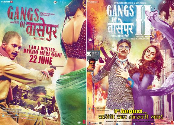 Gangs of Wasseypur (2012) and Gangs of Wasseypur 2 (2012) Movie Posters