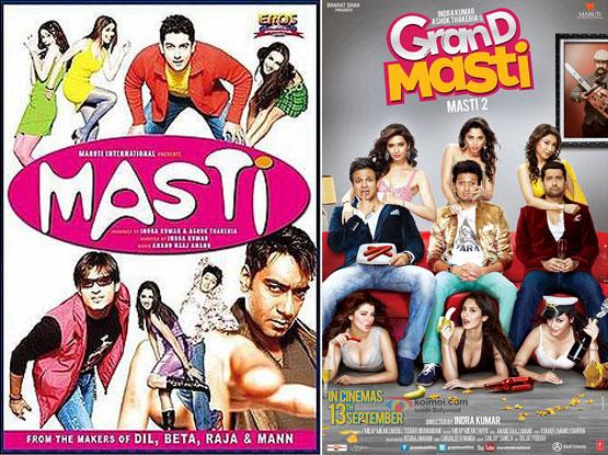 Masti (2004) and Grand Masti (2013) Movie Posters