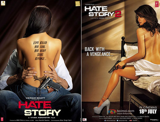 Hate Story (2012) and Hate Story 2 (2014) Movie Posters