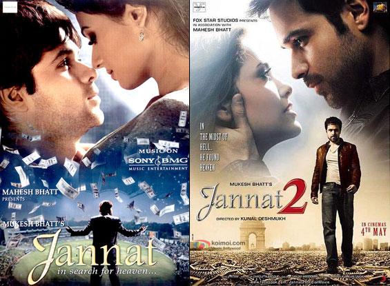 Jannat (2008) and Jannat 2 (2012) Movie Posters