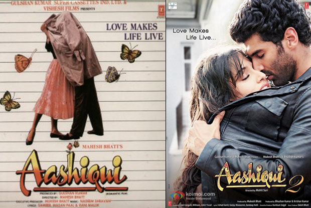Aashiqui (1990) and Aashiqui 2 (2013) Movie Posters