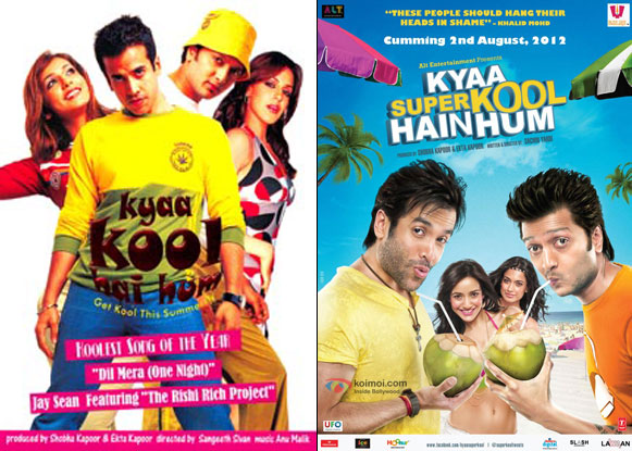 Kyaa Kool Hai Hum (2005) and Kyaa Super Kool Hain Hum (2012) Movie Posters