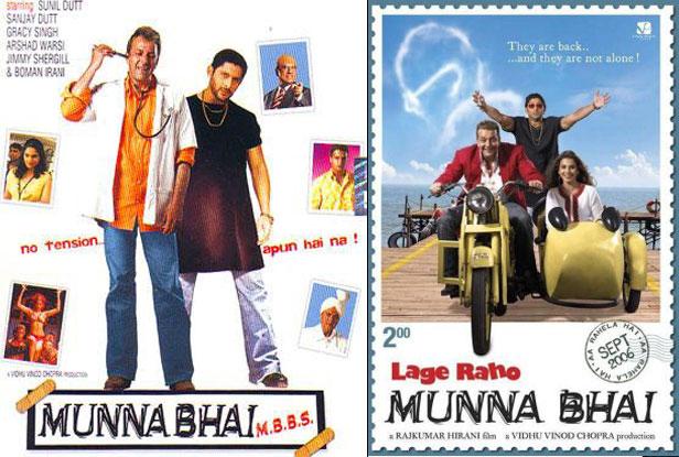 Munna Bhai M.B.B.S. (2003) and Lage Raho Munna Bhai (2006) Movie Posters