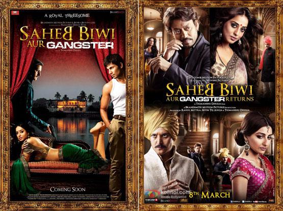 Saheb Biwi Aur Gangster (2011) and Saheb Biwi Aur Gangster Returns (2013) Movie Posters