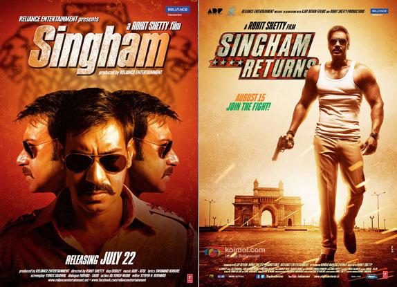 Singham (2011) and Singham Returns (2014) Movie Posters