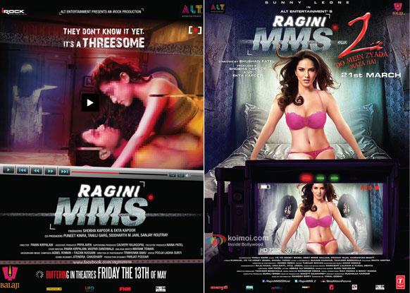Ragini MMS (2011) and Ragini MMS 2 (2014) Movie Posters