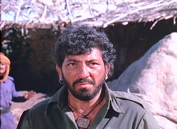 Amjad Khan as Gabbar Singh in a still from movie 'Sholay (1975)'