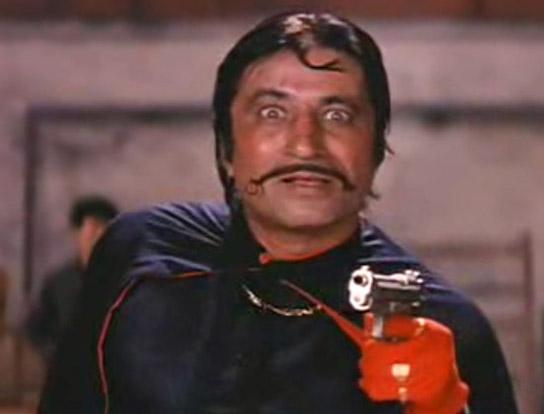 Shakti Kapoor as Crime Master Gogo in a still from movie 'Andaz Apna Apna (1994)'