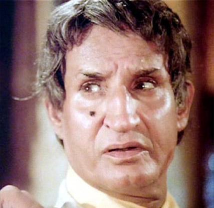 Jeevan as Albert/Robert, the mob boss in a still from movie 'Amar Akbar Anthony (1977)'