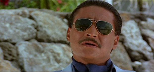 Danny Denzongpa as Kancha Cheena in a still from movie 'Agneepath (1990)'