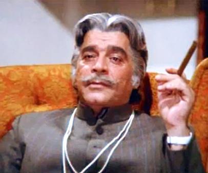 Ajit as Din Dayal/LION in still from movie 'Kalicharan (1976)'