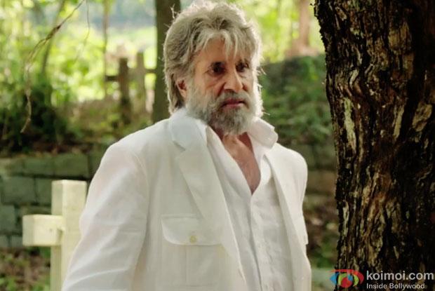 Amitabh Bachchan in a still from movie 'Shamitabh'