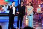 Salman Khan, Arjun Rampal and Jacqueline Fernandez on the sets of Bigg Boss Season 8