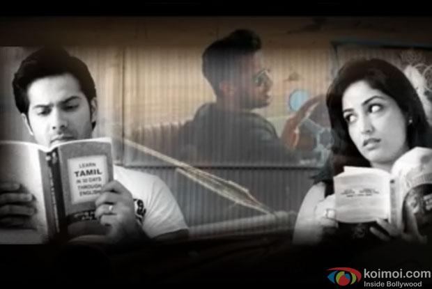 Varun Dhawan, Yami Gautam and Atif Aslam in a still from movie 'Badlapur'
