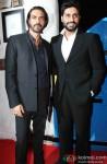 Arjun Rampal and Abhishek Bachchan during the launch of Daboo Ratnani's 2015 Calendar