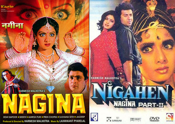 Nagina (1986) and Nigahen: Nagina Part II (1989) Movie Poster
