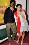 Arjun Rampal and Jacqueline Fernandez during the promotion of movie 'Roy' at Radio Mirchi Mumbai studio Pic 1