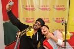 Arjun Rampal and Jacqueline Fernandez during the promotion of movie 'Roy' at Radio Mirchi Mumbai studio Pic 2