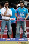 Sohail Khan and Salman Khan at a Celebrity Cricket League match Pic 1
