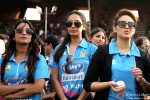 Lisa Haydon and Huma Qureshi at a Celebrity Cricket League match
