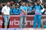 Sohail Khan, Salman Khan and Bobby Deol at a Celebrity Cricket League match