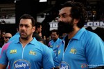 Salman Khan and Bobby Deol at a Celebrity Cricket League match