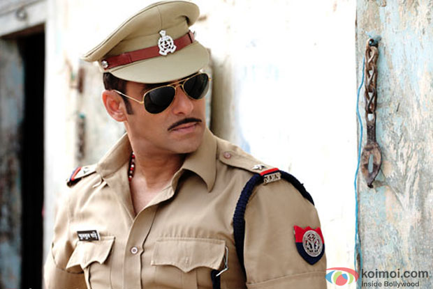 Salman Khan in a still from movie 'Dabangg'