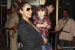 Gauri Khan, AbRam and Aryan Return From Dubai