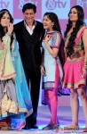 Shah Rukh Khan and Shweta Tiwari during the launch of New TV Show 'Sabse Shaana Kaun?