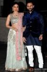 Kareena Kapoor Khan and Saif Ali Khan during the Soha Ali Khan - Kunal Khemmu's Wedding Party & Reception
