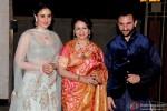Kareena Kapoor Khan, Sharmila Tagore and Saif Ali Khan during the Soha Ali Khan - Kunal Khemmu's Wedding Party & Reception