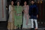 Karisma Kapoor, Babita Kapoor, Kareena Kapoor Khan and Saif Ali Khan during the Soha Ali Khan - Kunal Khemmu's Wedding Party & Reception