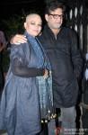 Tanvi Azmi and Baba Azmi during the party hosted by Sanjay Leela Bhansali