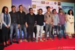 Vikramaditya Motwane, Vikas Bahl, Gulshan Devaiah, Harshavardhan Kulkarni, Khamosh Shah and Veera Saxena during the trailer launch of 'Hunterrr'