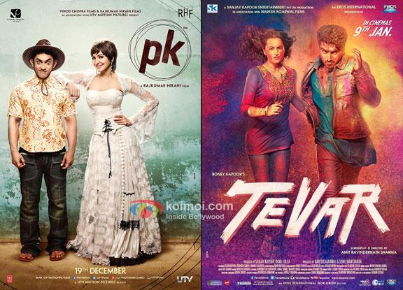 'PK' and 'Tevar' movie posters