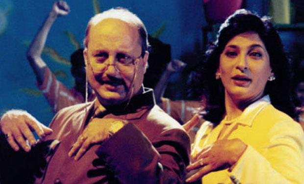 Anupam Kher and Archana Puran Singh in a still from movie 'Kuch Kuch Hota Hai'