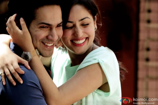 Varun Dhawan and Yami Gautam in a still from movie 'Badlapur'