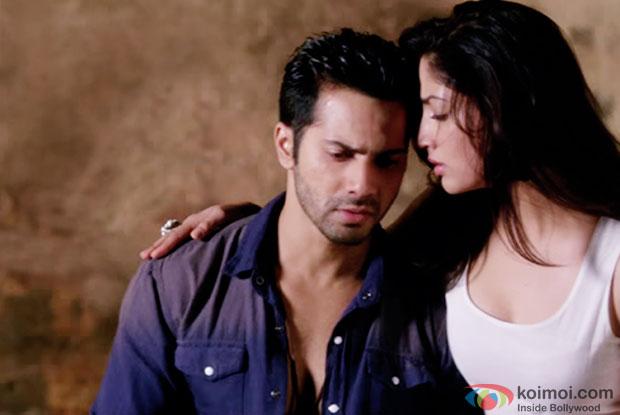 Varun Dhawan and Yami Gautam in a still from movie 'Badlapur'